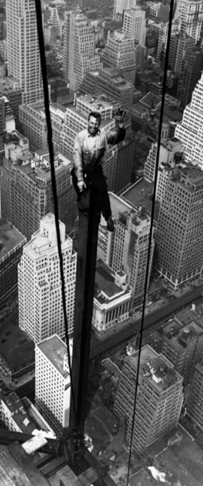 new york City empore states building construction worker Photo
